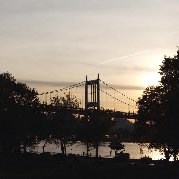 Sunset in Astoria Park.