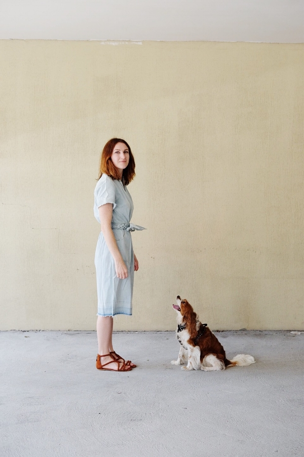 Dress by Sea via the Outnet, shoes by Sandro (on supa sale). Dog by mother nature (she's good).